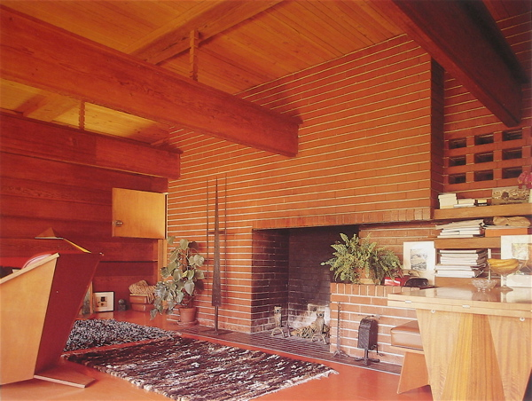 George Sturges House by Frank Lloyd Wright interior 1